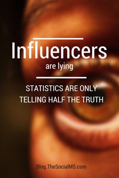 Influencers are Lying and Statistics are Only Telling Half the Truth | by @dreckbaerfrau | #InfluencerMarketing #SocialMedia | Susanna Gebauer for The Social M's
