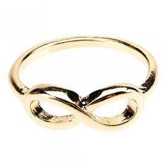 [$3.89] Stylish Jewelry Fashionable Infinity Sign8Ring(Gold)