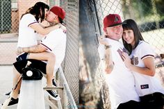 Baseball theme engagement session.  www.somethingbluephotography.net