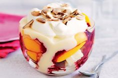 Serve trifle all year round with this speedy peach melba version.