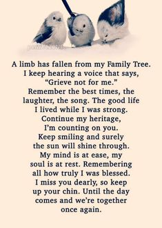 Verses and Sayings - A limb has fallen from my Family Tree . Love Quotes For Her, Sister Love Quotes, Missing You Quotes For Him, Missing Grandma Quotes, Miss You Dad Quotes, I Miss You Sister, I Miss You Grandma, I Miss You Text, Deep Relationship Quotes