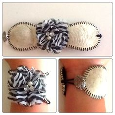 Baseball Bracelet. I'd want a blue and gold flower in the middle though!