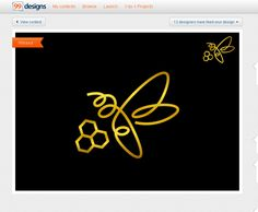 """Айлин Хакова Графичен Дизайн: Лого дизайн за """"Golden Bee"""" продукти за хранит. фирма Fine Food Land -авторски права запазени ( спечелен конкурсен проект от 99designs) / Logo design for """"Golden bee"""" products for Fine Food Land company - Copyright reserved, (99design won contest project)"""