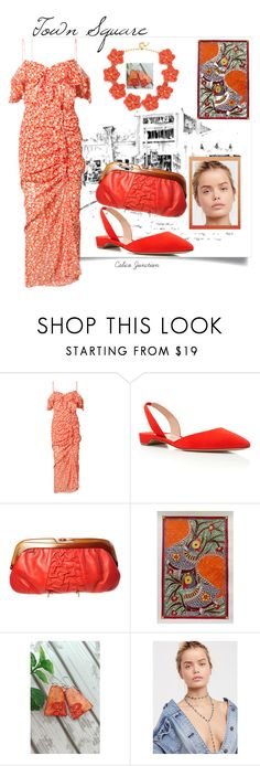"""""""Town Square"""" by calicojunction ❤ liked on Polyvore featuring Veronica Beard, NOVICA, Free People and BaubleBar"""
