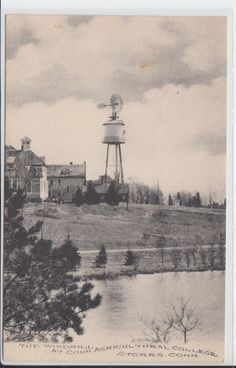 Storrs Connecticut Ct Postcard The Windmill at Agricultural College | eBay