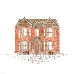 189. Dirty Doored House | Rebecca Horne, illustration