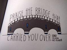 Helsinki Dragonfly bridge , george colman , illustration , kuvitus , lainaus , lisa congdon , quotation , quote , silta