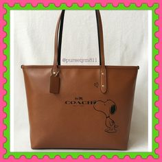 "Authentic Coach Limited Edition Leather Handbag % AUTHENTIC✨ Beautiful limited edition leather large handbag from Coach Length 15 1/2"" Height 10 1/2"" Width 5 1/4"" Shoulder strap 10"" Color: Saddle (brown) w/ silver tone hardware. Zipper top closure . 3 interior pockets. New w/ tag. NO TRADE  FINAL PRICE‼️ Coach Bags Totes"
