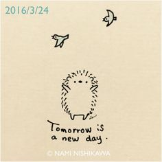 801 Tomorrow is a new day.    #illustration #hedgehog #イラスト #ハリネズミ #illustagram
