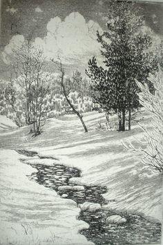 Lyman Byxbe, etching