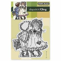PENNY BLACK RUBBER STAMPS SLAPSTICK CLING RAGGED ROMEO STAMP 2012