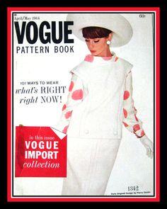 Vintage 1964VOGUE PATTERN BOOKCouture by FarfallaDesignStudio, $42.00