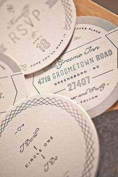 really great letterpress invitations for a wedding