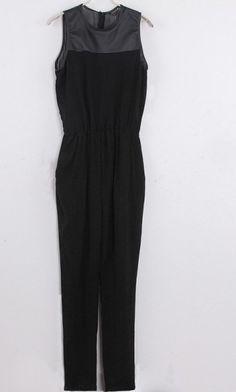 Vintage sleeveless Siamese pants