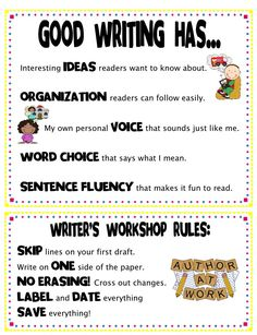 Good Writing Has... and Writer's Workshop Rules