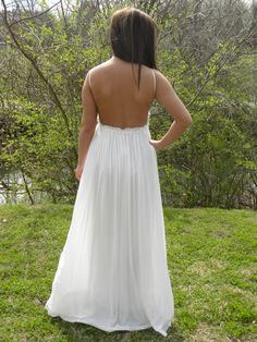 Just Call Me Angel backless maxi dress.   Perfect for weddings or the beach.  In Pink or White.