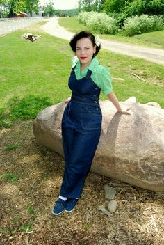 Wearing History's 1940s WWII Overalls via Girl with the Star-Spangled Heart