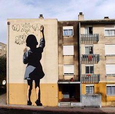 Street Art @GoogleStreetArt  Street Art by Adres In Portugal #art #mural #streetart