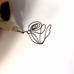Rose Doodle Art👉www.me💝Save OFF with code Stationery - - Rose Doodle Art👉www.me💝Save OFF with code Stationery Für mein Bujo Pencil Art Drawings, Art Drawings Sketches, Doodle Drawings, Easy Drawings, Sketch Drawing, Cool Art Drawings, Rose Doodle, Leaves Doodle, Stylo Art