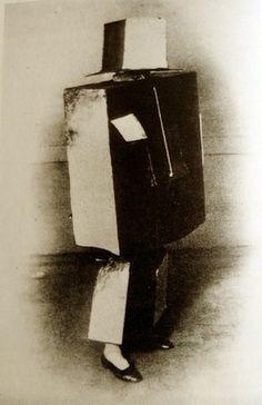 barbaromahony:Ilya Zdanevich in cubist costume for dada ball, Paris 1923