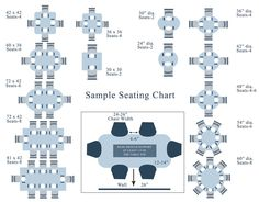 Attrayant Visual Seating Chart Shows The Number Of Chairs Based On The Tables Size