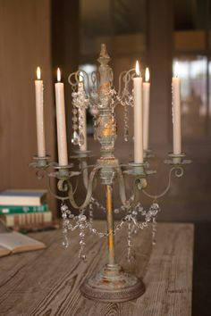 metal candelabra with beaded detail  $85.00 (use to hang necklaces)