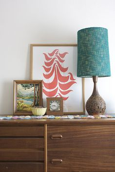 Paint by number, vintage lamp, superb print.