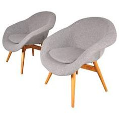 Set of Two Easy Chairs by Frantisek Jirak, Manufactured in Czech in 1958