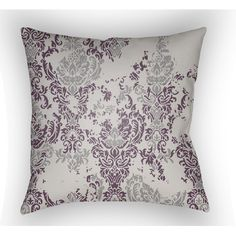 Surya Moody Damask Polyester Throw Pillow & Reviews   Wayfair