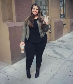 449b78f9caa 45 Casual and Comfy Plus Size Fall Outfits Ideas - ADDICFASHION Winter  Fashion