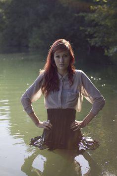 by LjoCha on DeviantArt Girl In Water, Wet T Shirt, Wet N Wild, Amazing Women, Satin, Deviantart, Lady, Blouse, Skirts