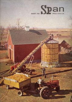 """August Research has proved a vital stimulus to increased production on the American farm. For the article """"The World Has a Big Food Potential by Byran T. Shaw"""" write to editorspan Old John Deere Tractors, Big Tractors, Farmall Tractors, Antique Tractors, Vintage Tractors, Vintage Farm, Farm Images, Farm Pictures, International Tractors"""