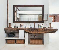 Bathroom - such a cool countertop