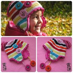 How to make a crocheted earflap lining