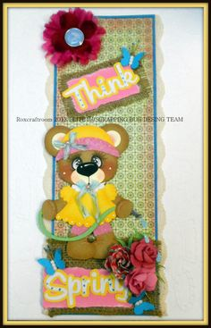 ELITE4U Handmade Tear Bear Paper Piecing Scrapbook Vertical Border Roxcrafts | eBay
