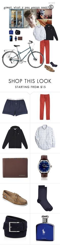 """""""Great, what r you gonna cook?"""" by adelaidesmitha ❤ liked on Polyvore featuring Blink, Tommy Hilfiger, prAna, Lacoste, Brooks Brothers, Burberry, Samsung, Sebago, Kloters Milano and To Boot New York"""