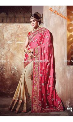 048b3e825d5f2 and Heavy Features pure satin saree with diamond and moti work and cut dana  heavy worked blouse.