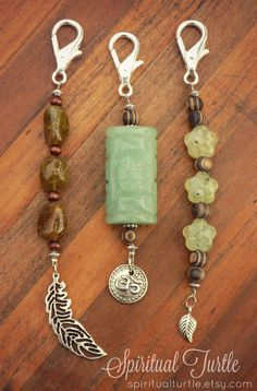 - Jewelry, Key Chain, Key Charm, Accessories, Handmade, Small Business, Shop Small, Etsy, Hippie, Boho, Gypsy, Spiritual Turtle, Etsy, Healing Energy, Reiki, Energy Infused, Crystals, Stones, New Age, Wood, Clip, Clasp, Aventurine, Garnet, Prehnite, Flower, Om, Leaf, Feather, Charm, Dangle, Zen, Positive Energy, Good Vibes, Free Spirit, Beaded, Gift Idea, Affordable, Green, Keys, Silver, Feather, Nature, Mother Nature, Mother Earth
