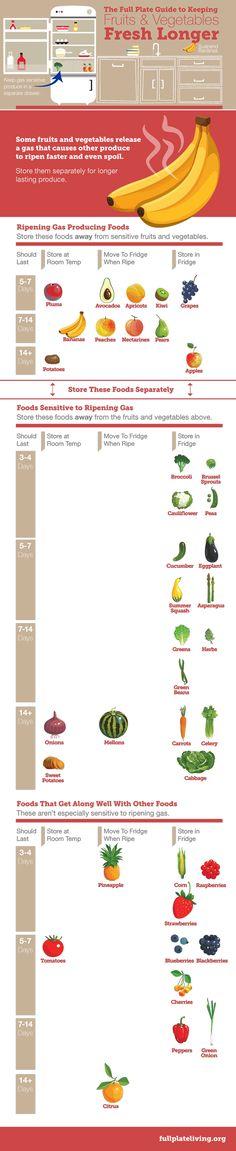 Guide For Smarter Fruit U0026 Vegetable Storage Techniques #Infographics