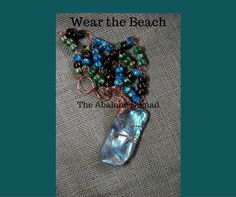 Crow Beads and Abalone Focal Necklace