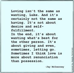 Quotable -Jay McInerney