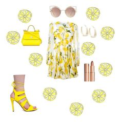 """Lemon 🍋"" by elinaelina-1 ❤ liked on Polyvore featuring Dolce&Gabbana, Delicious, MANGO, Lana and Charlotte Tilbury"