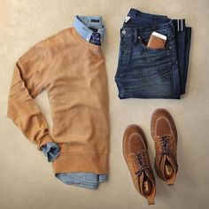 Camel sweater and denim  Upgrade your style  @stylishmanmag  @shopthatgrid  @thepacman82