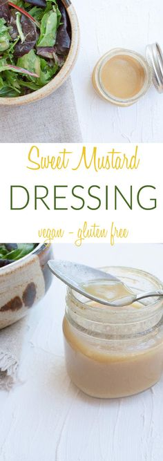 Sweet Mustard Dressing (vegan, gluten free) - This sweet dressing tastes great on savory salads and works well as a dipping sauce. You can whip it up in minutes!