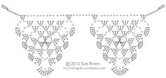 I got it in my head to make some crochet bunting. I tried quite a few different crochet triangles, there is a nice assortment of them on the interwebs. Granny Square Häkelanleitung, Granny Square Crochet Pattern, Crochet Diagram, Crochet Chart, Crochet Motif, Crochet Designs, Crochet Stitches, Crochet Patterns, Cross Stitches