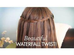 Beautiful Waterfall Twist | Cute Girls Hairstyles - YouTube