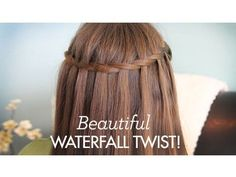 Beautiful Waterfall Twist   Cute Girls Hairstyles - YouTube