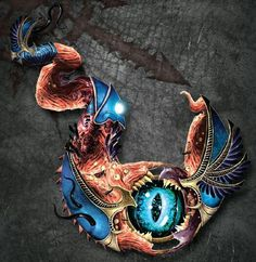Tzeentch - Warhammer 40K -- Chaos shouldn't be this pretty. But then again, it's Tzeentch, and he does love to mindscrew...