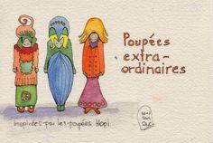Poupeés Extraordinaires 2, 10x15, watercolor. Artist of the Month: Andrea Hupke de Palacio