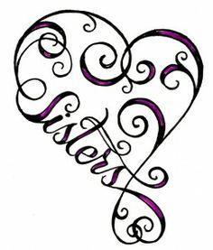 "Sisters Heart Infinity Sign Tattoo by ~Metacharis on deviantART.change the ""Sisters"" to her name instead. Tatoo Dog, Tatoo Henna, Swirly Tattoo, Tattoo Kids, Tatto Love, Sick Tattoo, Alfabeto Tattoo, Tatoo Angel, Muster Tattoos"